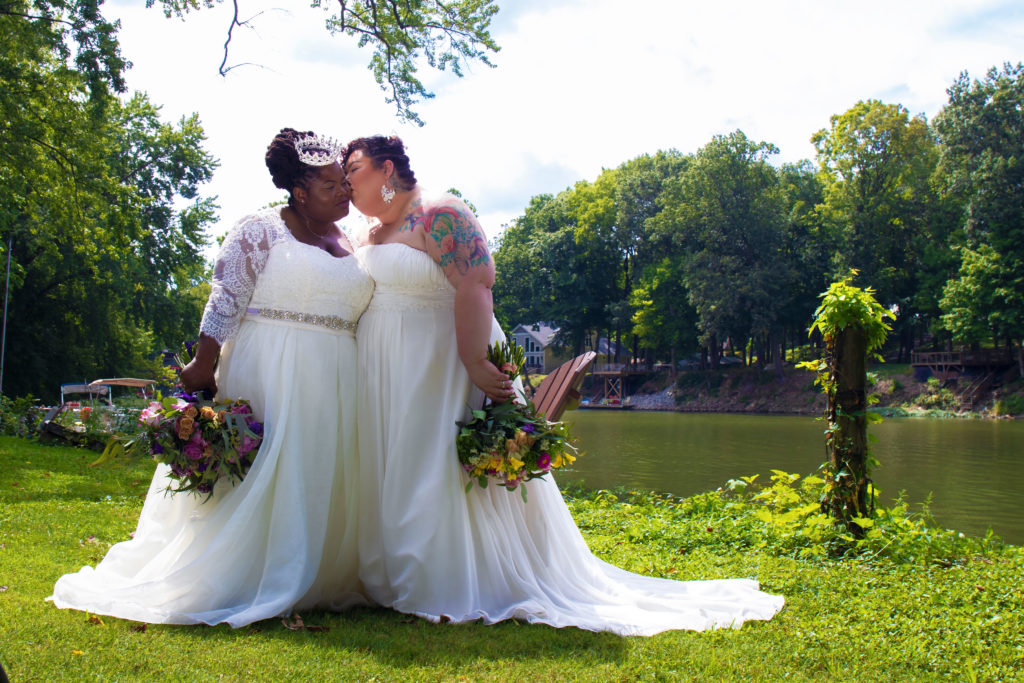 queer AirBnB wedding