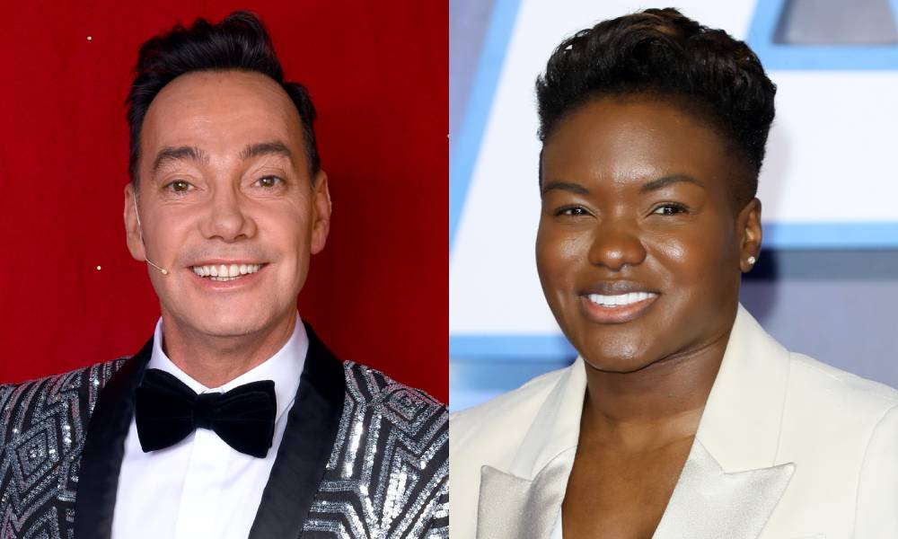 Craig Revel Horwood and Nicola Adams.