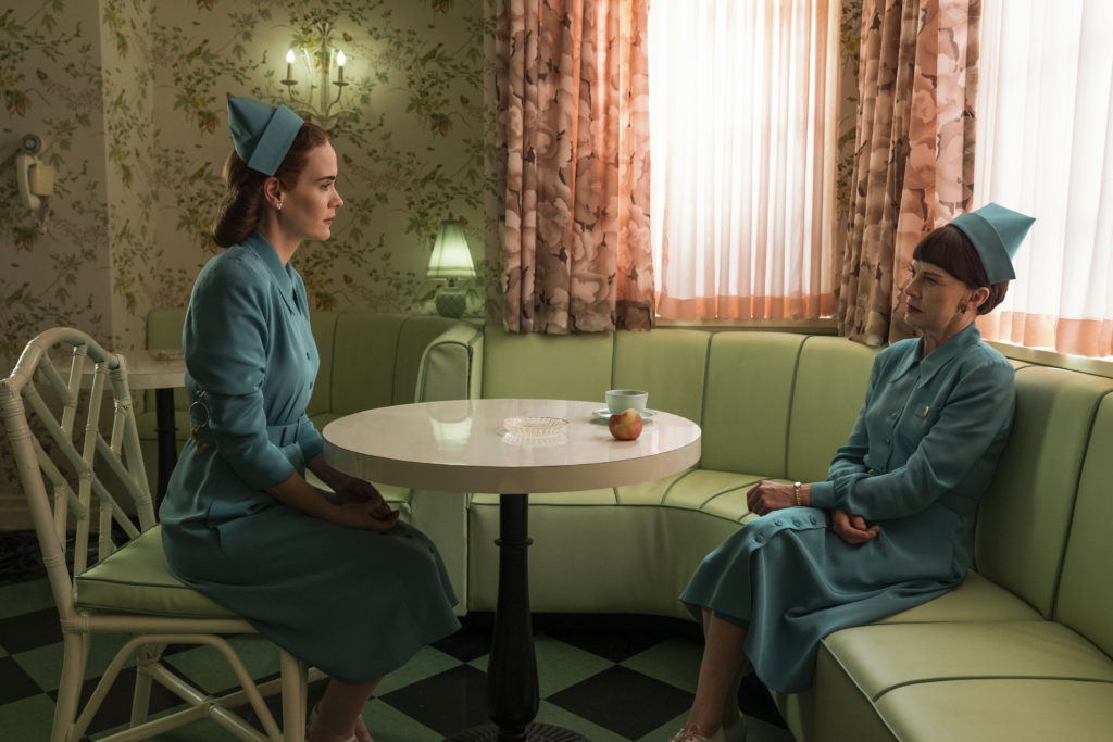 Sarah Paulson and Judy Davis in Ratched