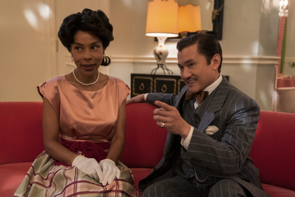 Sophie Okonedo and Jon Jon Briones in Ratched