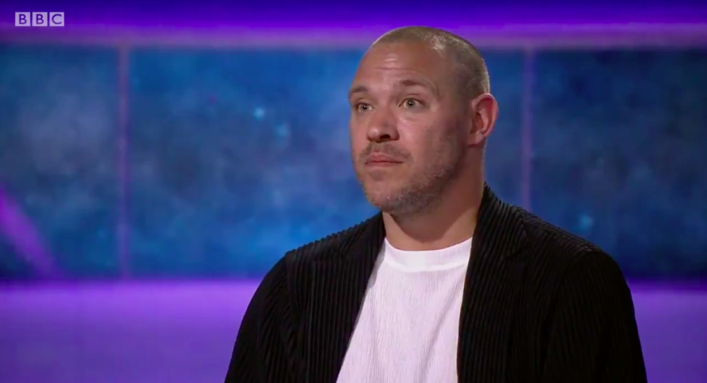 Will Young appeared on BBC Newsnight to discuss what 'gay shame' means to him. (Screen capture via Twitter)