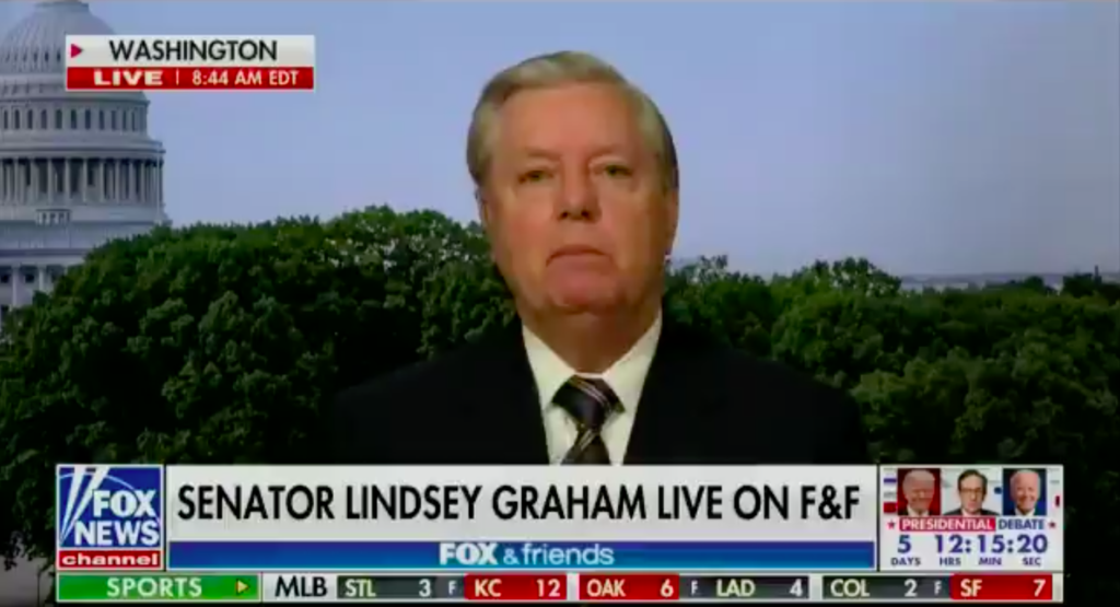 Lindsey Graham. (Screen capture via Twitter/Fox)