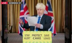 Matt Lucas as Boris Johnson on Bake Off.