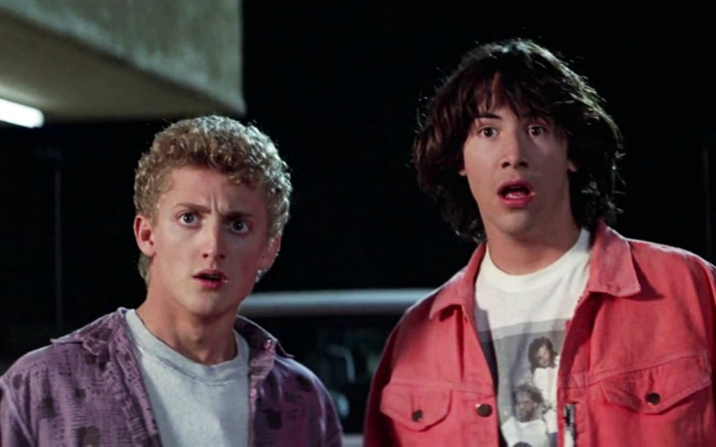 Keanu Reeves and Alex Winter in 1989's Bill & Ted's Excellent Adventure