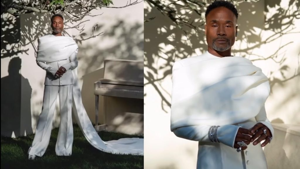 Billy Porter served a look for the Emmy Awards