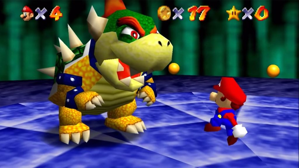 """In Super Mario 64, when Mario would fling Bowser out of the stage, he would utter a line that, to many, sounded like: """"So long, gay Bowser!"""". (Nintendo)"""