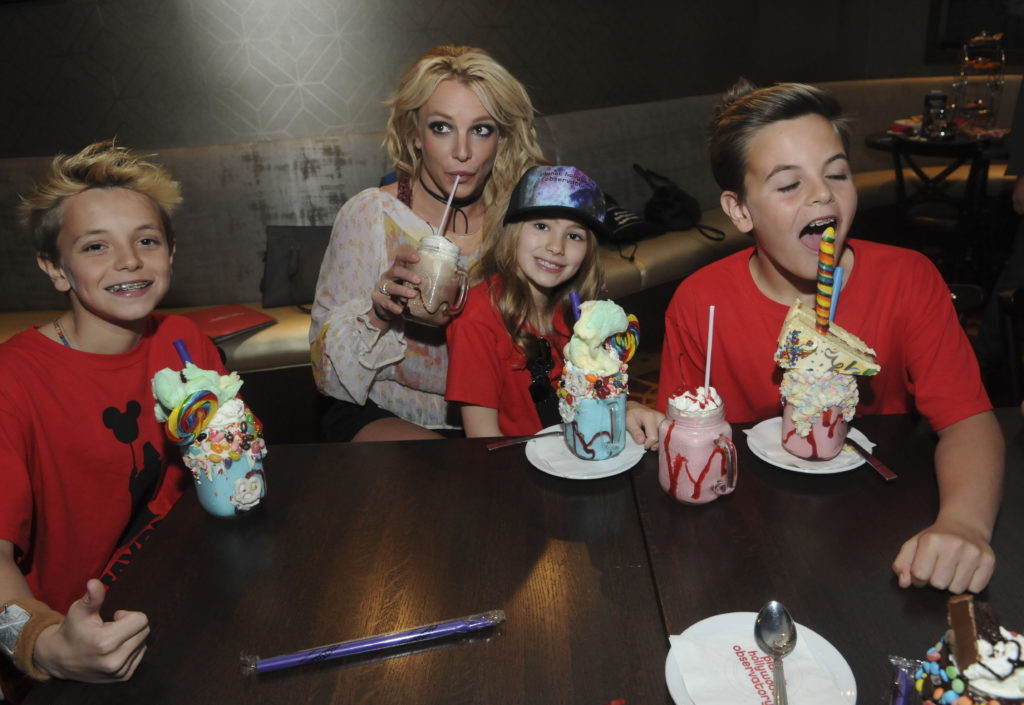 Britney Spears with her sons Jayden and Sean and her niece Maddie.
