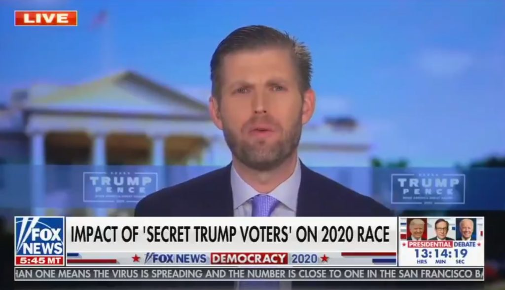 The President's second-oldest son, Eric Trump