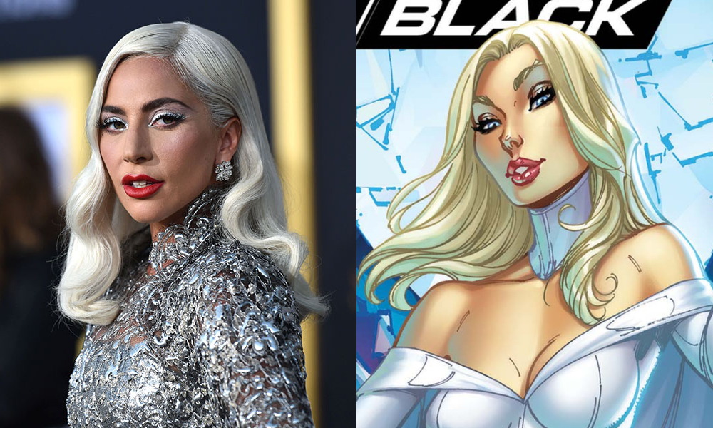 Lady Gaga (L) is rumoured to play Emma Frost in the upcoming X-Men revival film. (Getty/Marvel)