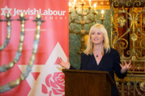 Rosie Duffield Labour MP for Canterbury Speaking at the Jewish Labour Movement Rally Fringe event at the 2019 Labour Party conference. (Nicola Tree/Getty Images) on September 22, 2019 in Brighton, England.