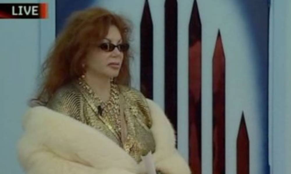 Jackie Stallone making her iconic Celebrity Big Brother entrance.