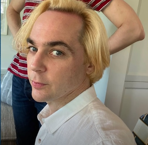 Jim Parsons bleached his hair during lockdown