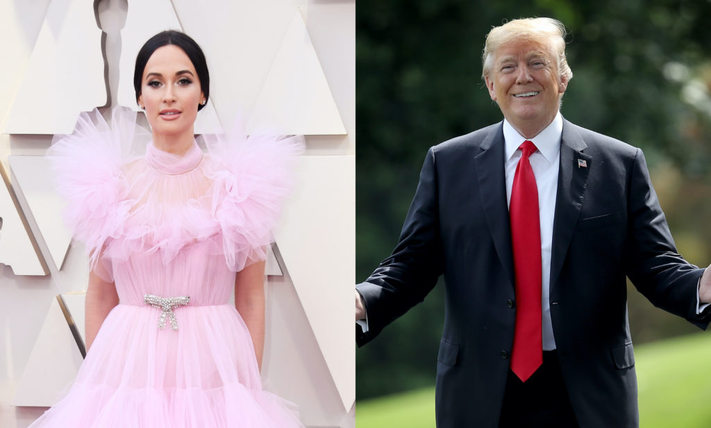 Kacey Musgraves blasted those intending to vote for US President Donald Trump, saying it would be an act of 'violence' against LGBT+ people. (Getty)