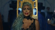 Lady Gaga on a stretcher in the 911 video