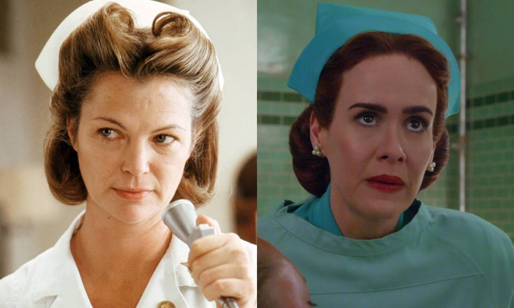 Louise Fletcher and Sarah Paulson as Nurse Ratched