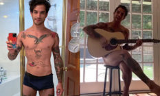 Tyler Posey poses as he sings about his new OnlyFans account. Some fans, however, were not impressed. (Instagram)