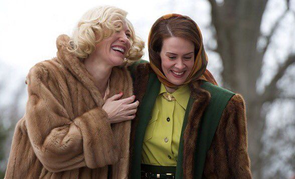 Sarah Paulson and Cate Blanchett in Carol.