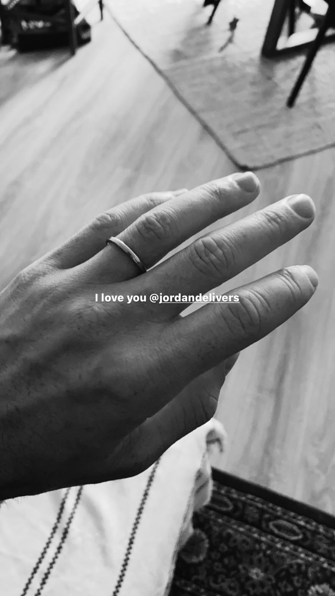 Duncan Laurence shared a glimpse at his engagement ring