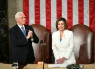US Vice President Mike Pence and Speaker of the House Nancy Pelosi. (MANDEL NGAN/AFP via Getty Images)