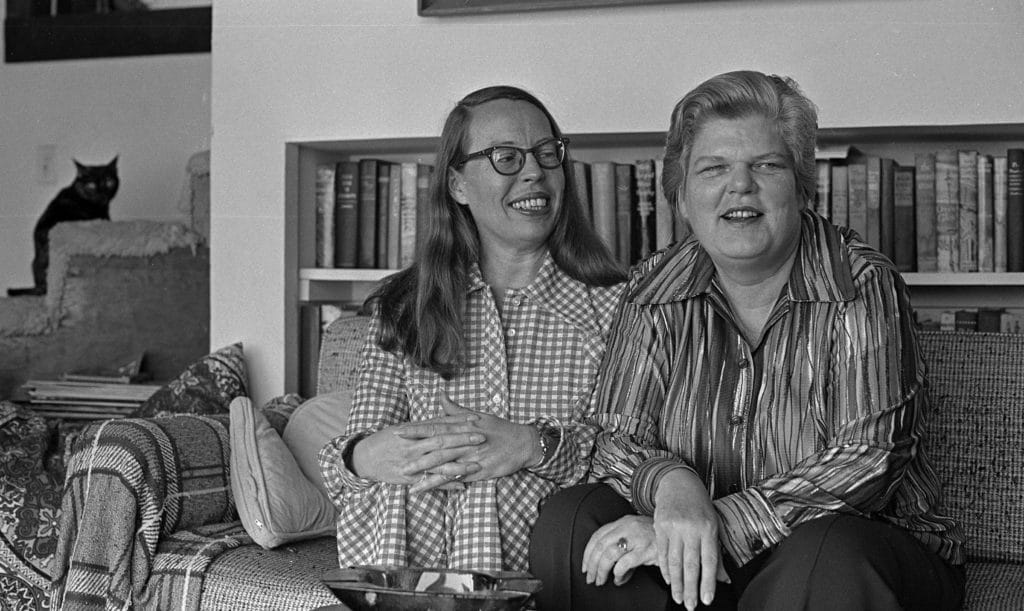 Phyllis Lyon and Del Martin at their San Francisco home in 1972. (Clem Albers/San Francisco Chronicle via Getty Images)