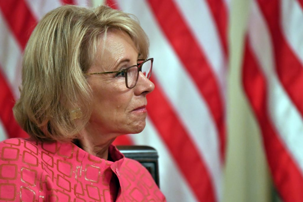 US Secretary of Education Betsy DeVos has overseen an anti-trans campaign within the Trump administration