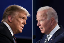 US President Donald Trump (L) and Democratic Presidential candidate former Vice President Joe BideN. (JIM WATSON,SAUL LOEB/AFP via Getty Images)