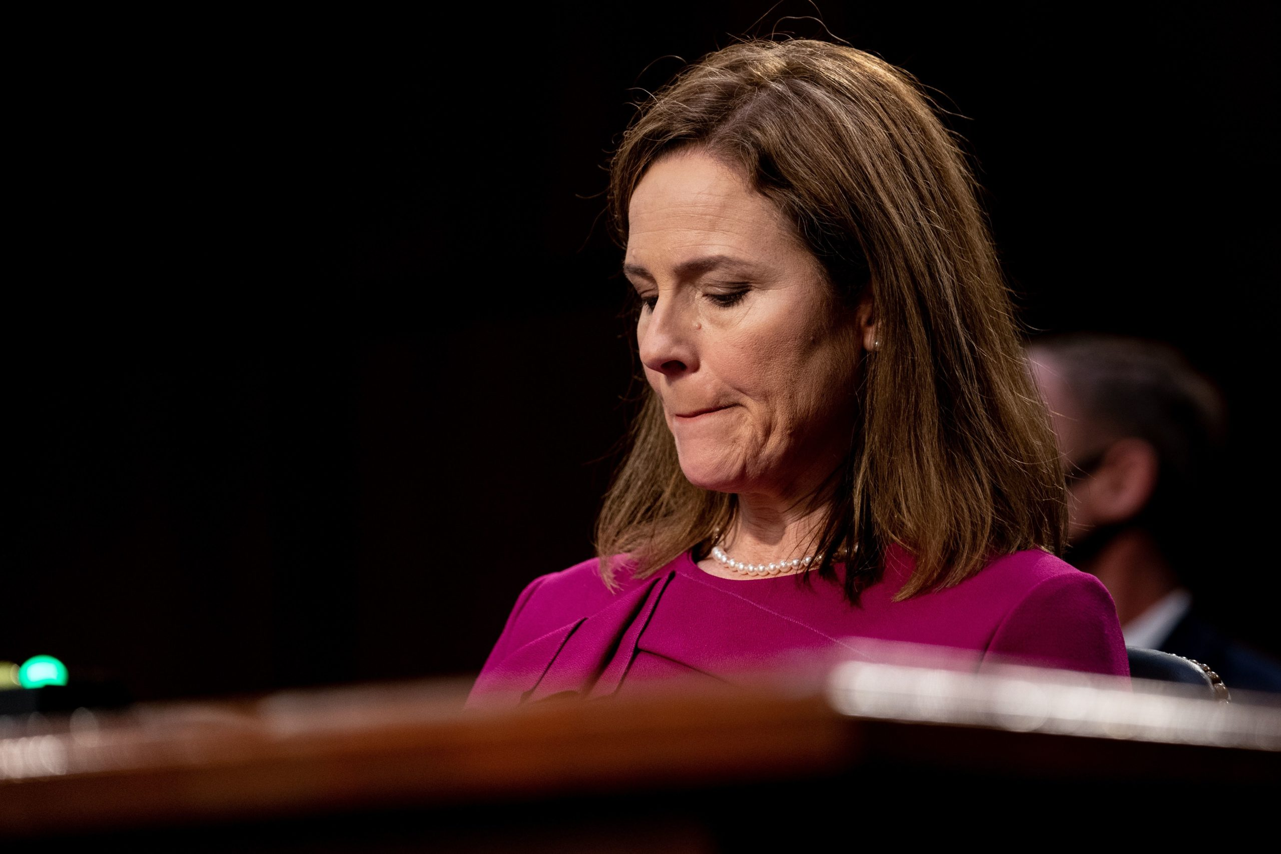 Judge Amy Coney Barrett attends first day of her Senate confirmation hearing to the Supreme Court on Capitol Hill in Washington, DC on October 12, 2020.