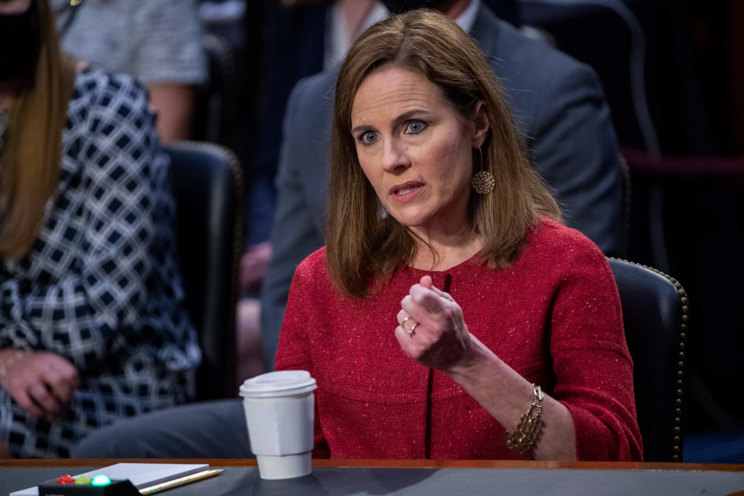 Supreme Court nominee Judge Amy Coney Barrett speaks during her confirmation hearing before the Senate Judiciary Committee on Capitol Hill in Washington, DC