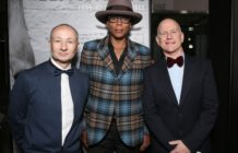 RuPaul with Drag Race exec producers Fenton Bailey and Randy Barbato