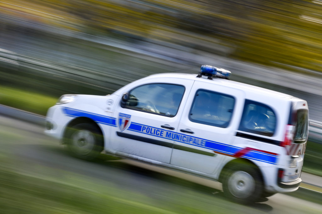 French police vehicle