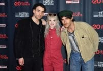 (L-R) Taylor York, Hayley Williams, and Zac Farro of Paramore. (ANGELA WEISS/AFP via Getty Images)