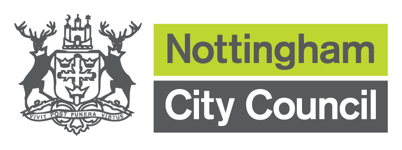 The Nottingham City Council Logo and crest of arms