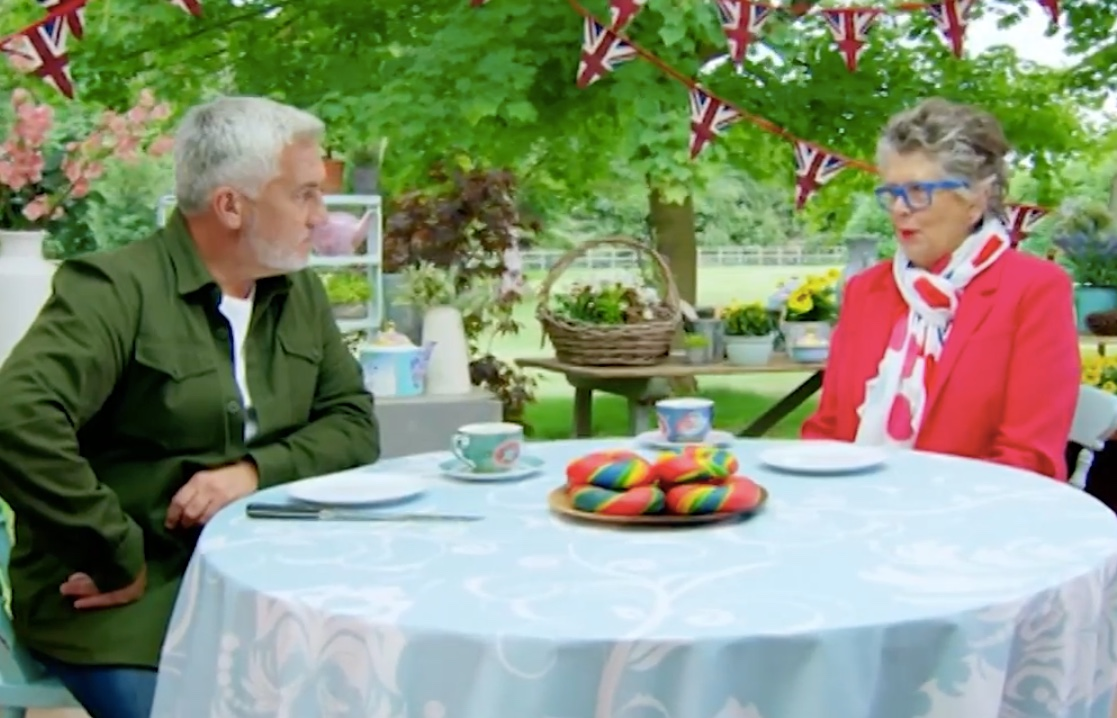 Paul Hollywood rainbow bagels The Great British Bake Off