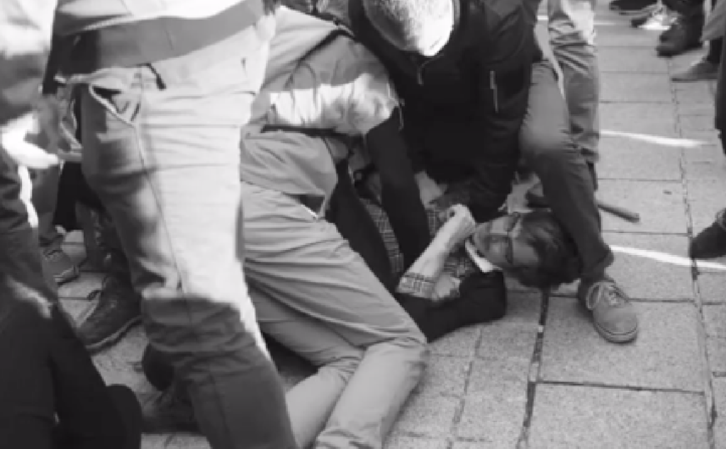 French anti-LGBT protest turns into terrifying brawl after innocent gay kiss