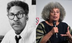 Bayard Rustin and Angela Davis