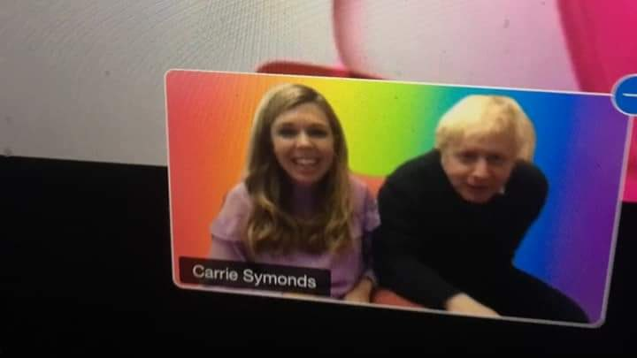 Carrie Symonds judged the lip-sync, with Boris Johnson making a guest appearance (LGBT+ Conservatives)
