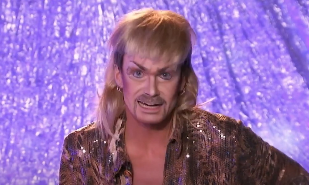 ChelseaBoy as Joe Exotic on Drag Race Holland Snatch Game