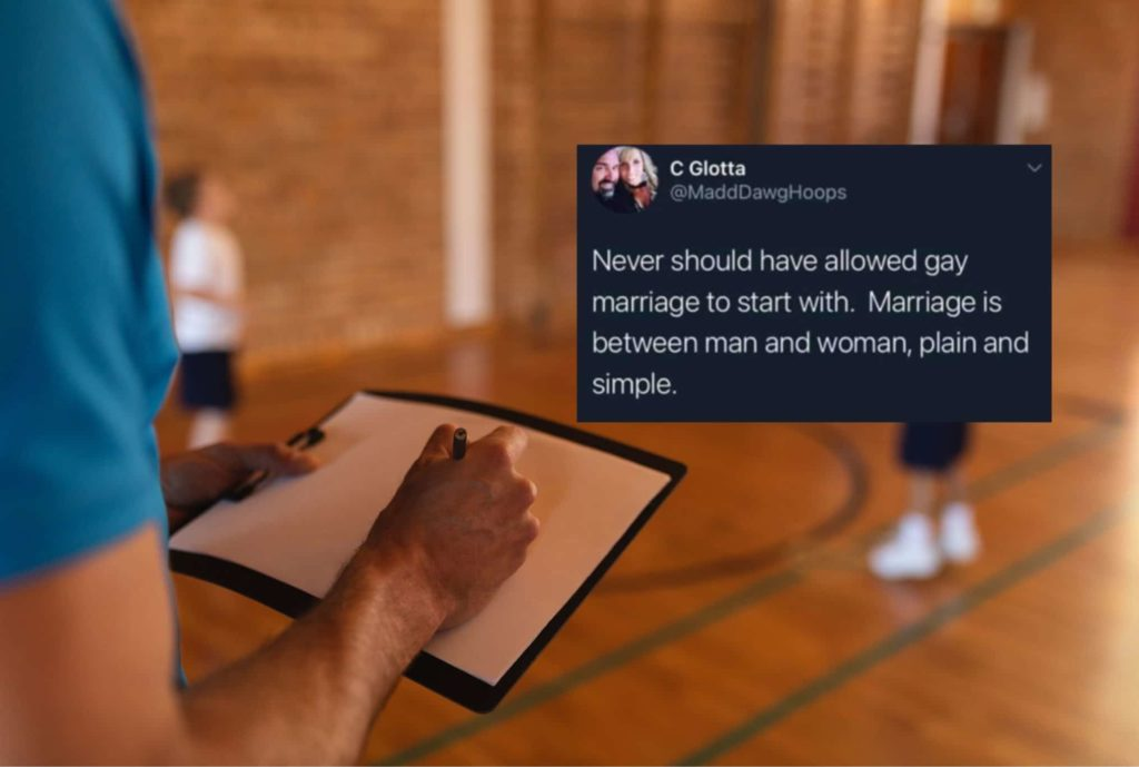 A high school coach's tweet against marriage equality became a lightning rod for controversy. (Stock photograph via Elements Envato/Twitter)
