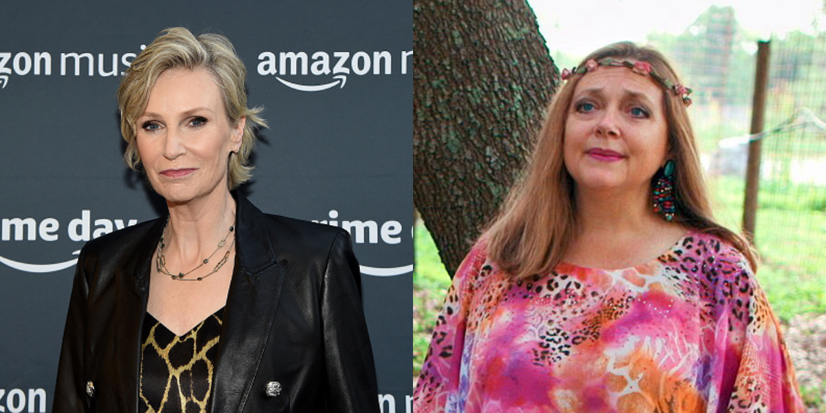 Glee star Jane Lynch is really, really glad Carole Baskin is bisexual –and no, this isn't a Ryan Murphy fever dream