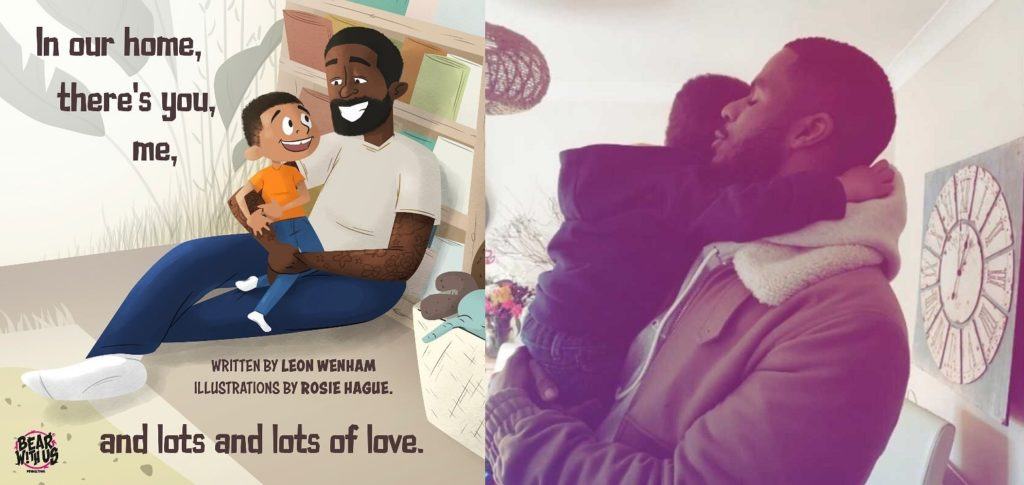 Leon Wenham explained that he wrote You, Me and Lots and Lots of Love because henever saw his family reflected in books he would read to his five-year-old son