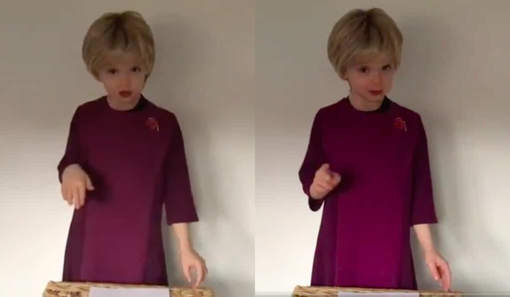 Nicola Sturgeon called a seven-year-old who dressed up in drag as her as a 'wee star'. (Screen captures via Twitter)
