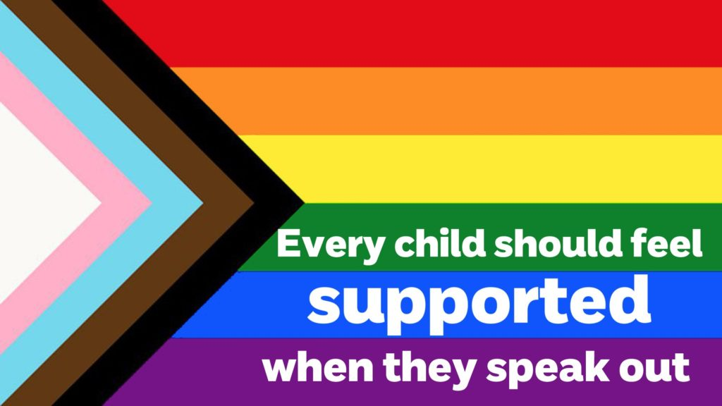 The charities made their support for trans kids clear