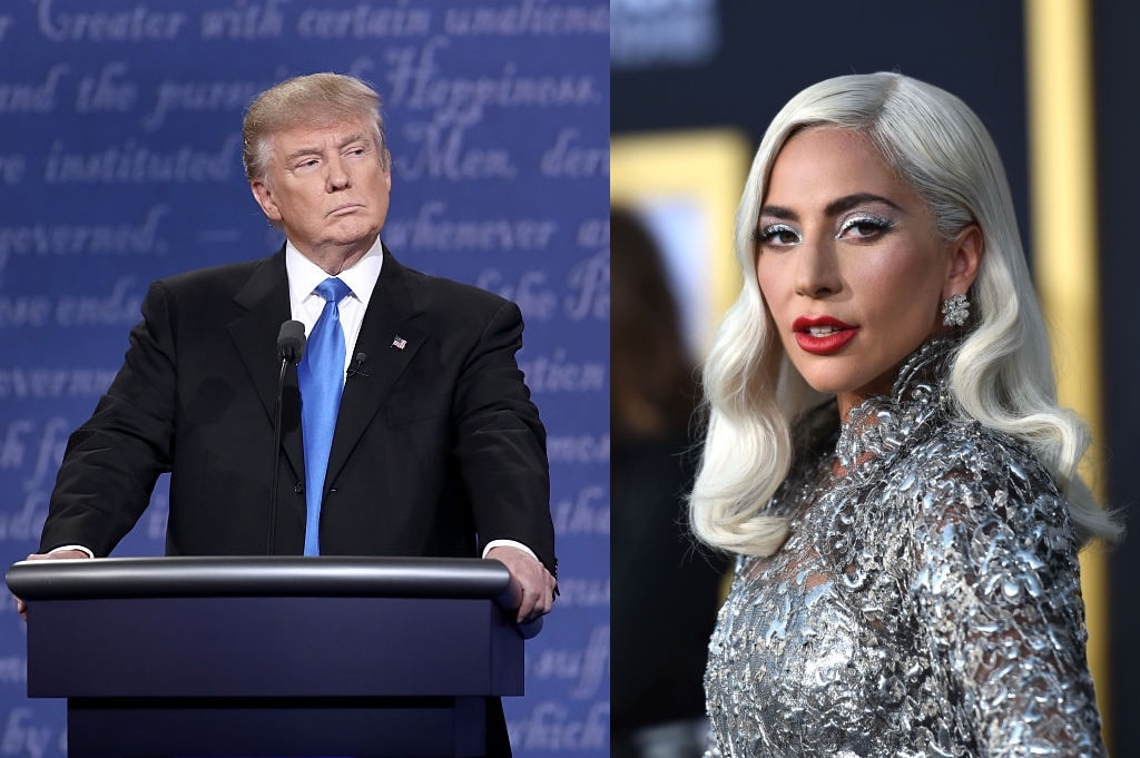 Lady Gaga eviscerates Donald Trump as he spends final campaign hours calling her an 'anti-fracking activist'
