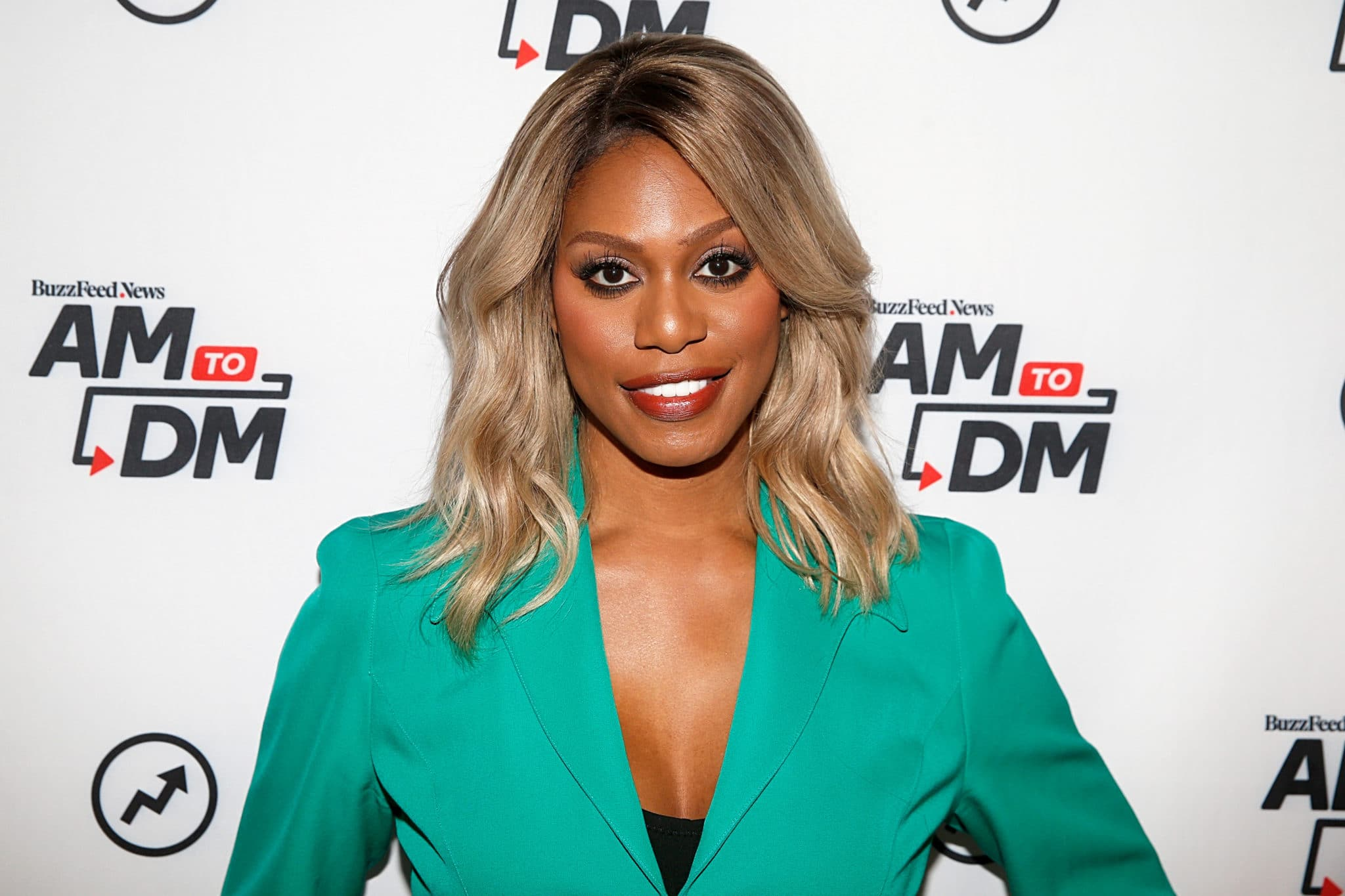 Laverne Cox attends BuzzFeed's AM To DM on October 07, 2019 in New York City.