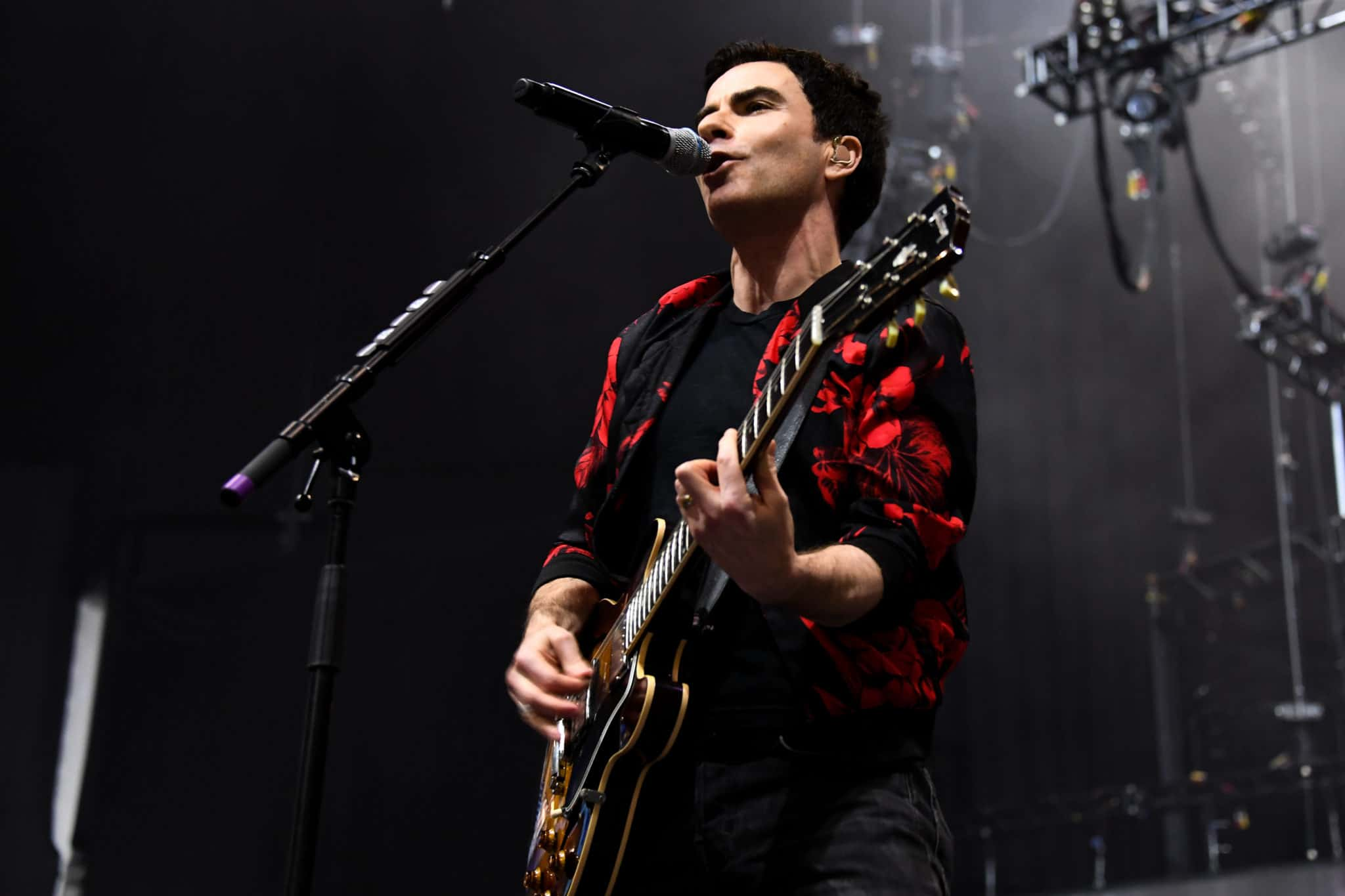 Kelly Jones of Welsh rock band Stereophonics performs on stage at the O2 Arena in London on March 6, 2020.