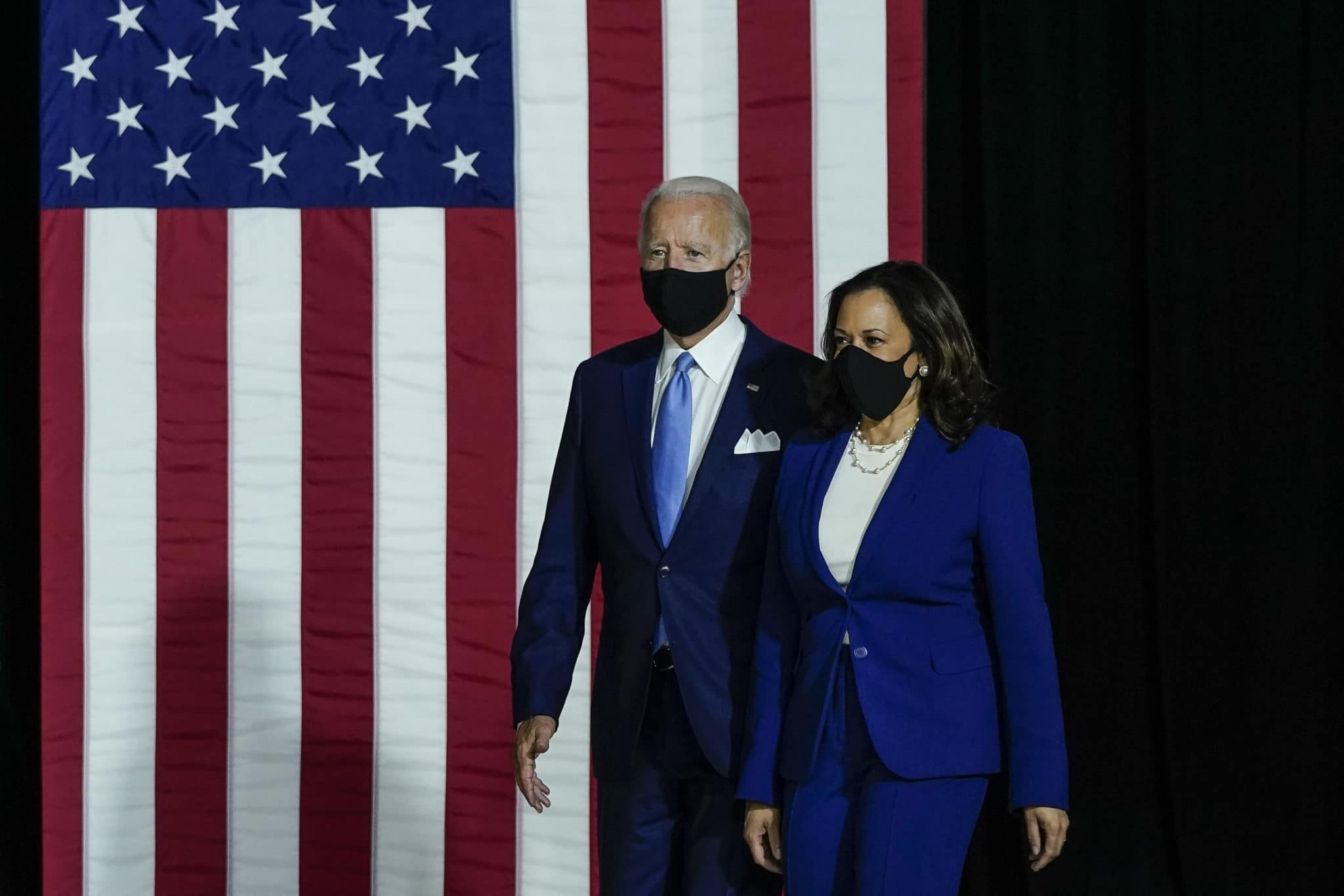 Election platform: LGBT+ rights were a plank of Joe Biden and Kamala Harris campaign pledges. (Drew Angerer/Getty Images)