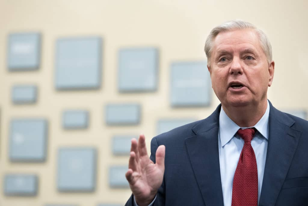 Senator Lindsey Graham is facing a tough challenge from Democrat challenger Jaime Harrison ahead of the November 3 election