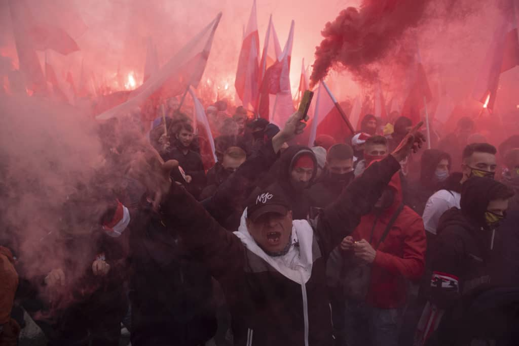 Warsaw independence march