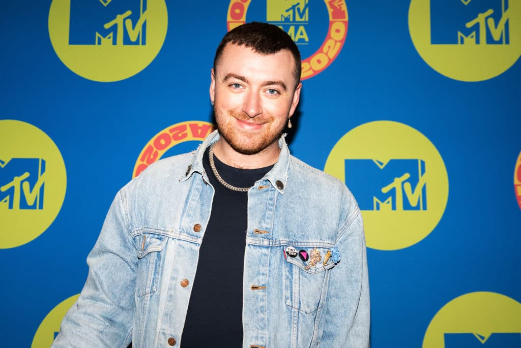 Sam Smith poses at the MTV EMA's 2020