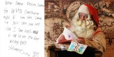 Will sent the letter to Santa Claus